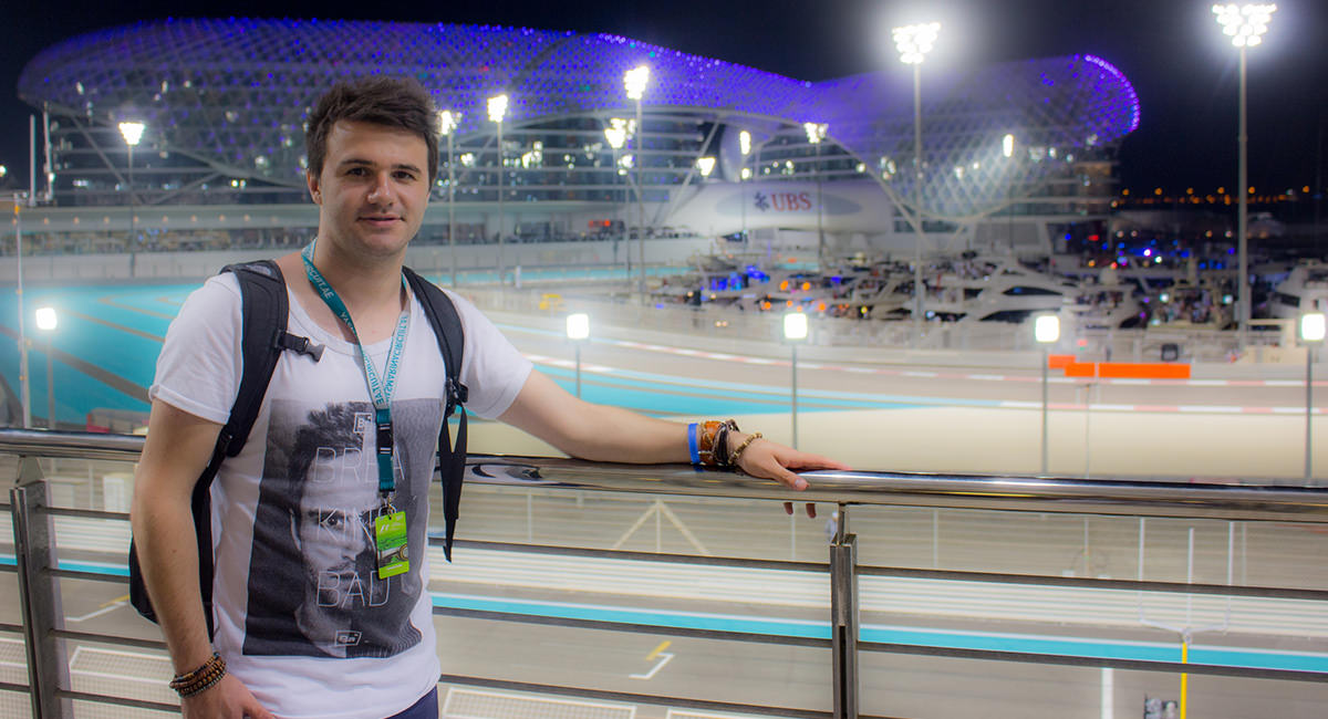 Glen Wheeler at the Yas Marina Track, Dubai