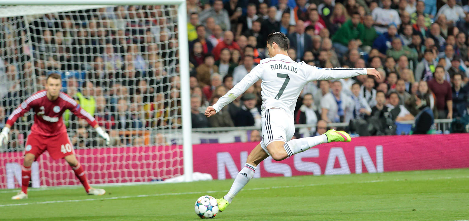 Real Madrid Football Club, Ronaldo Shooting at Goal