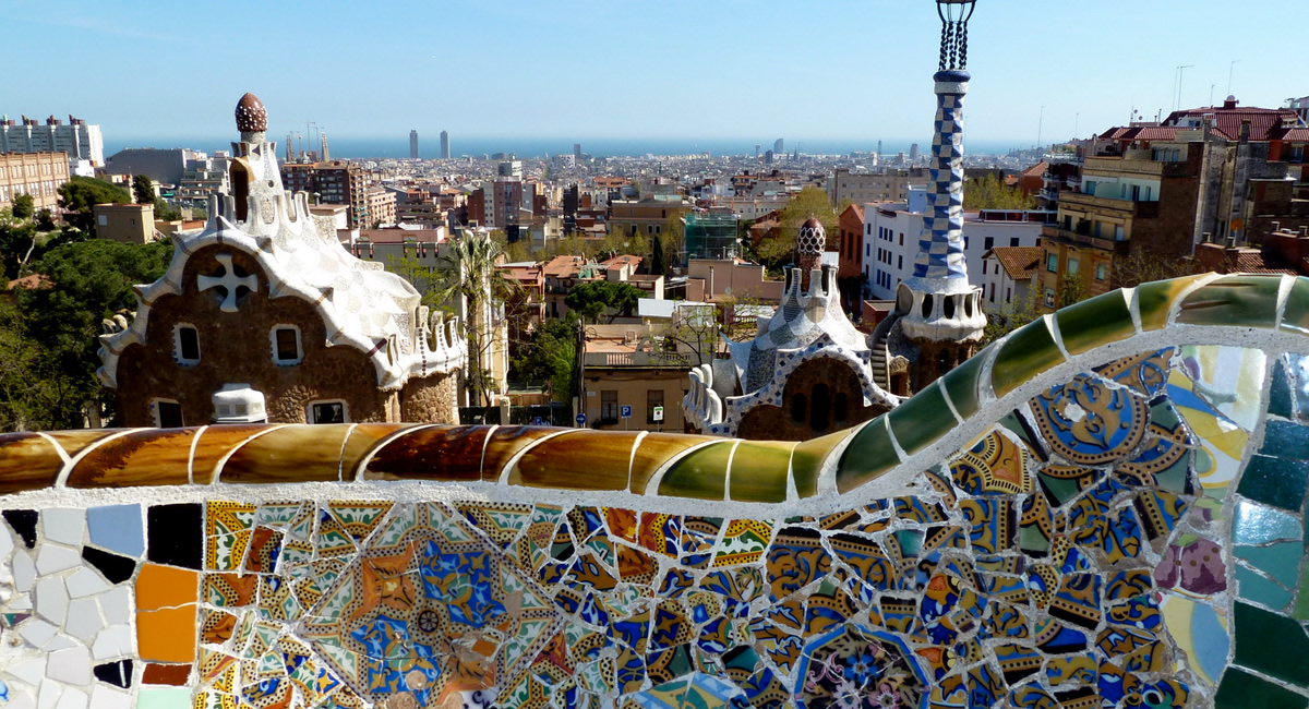 A shot from Parc Guell, Barcelona