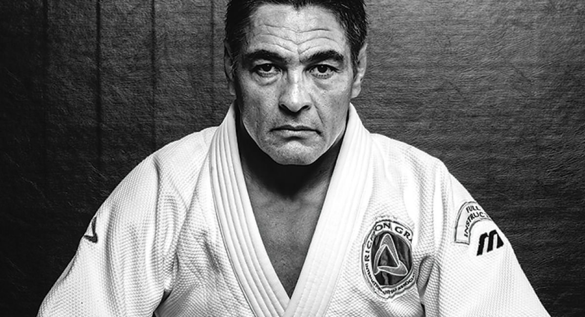 A picture of Rickson Gracie in his Gi