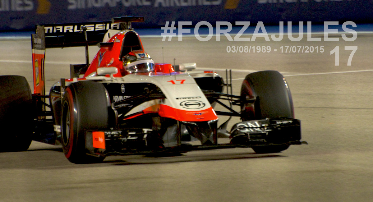 Jules Bianchi on track at the Singapore GP 2013
