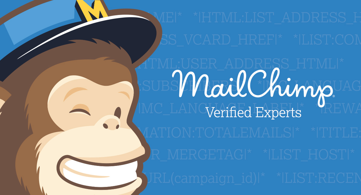 Mailchimp Experts Banner Showing Freddie and Mailchimp Code