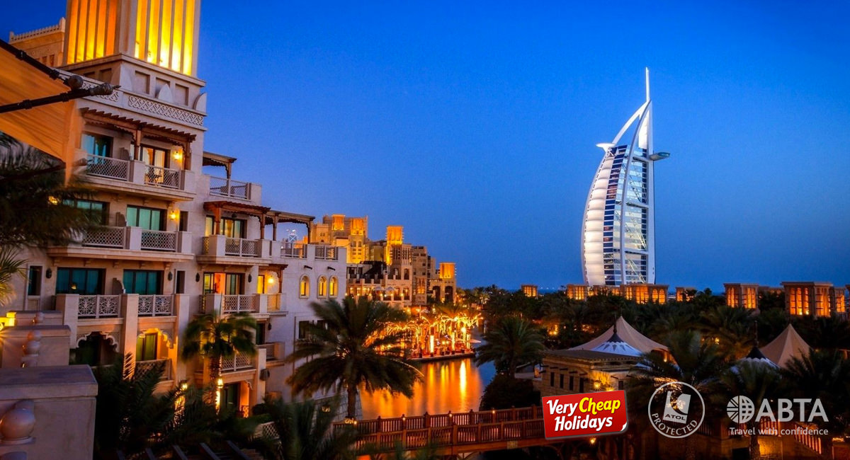 A photo showing the Burj Al Arab in Dubai City