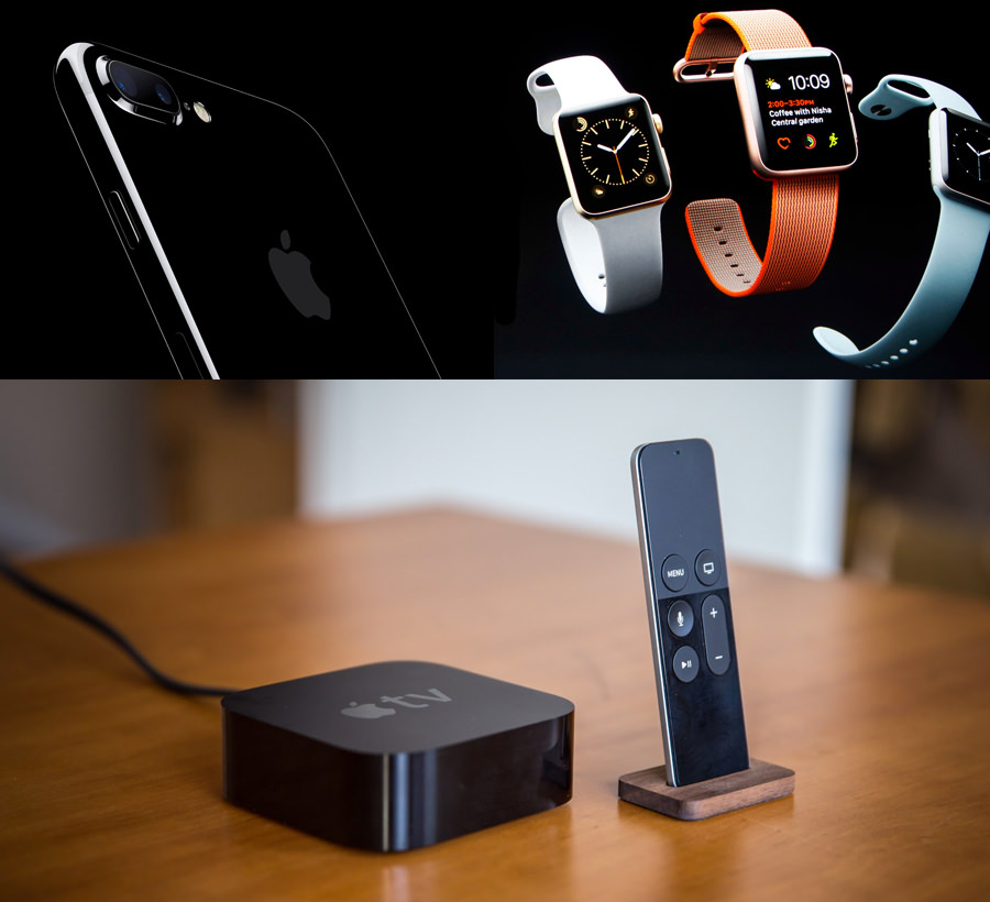 The new iPhone 7, Apple Watch Series Two and Fourth Generation Apple TV